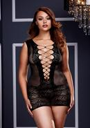 Ultra Corset Laceup Cut Out Mini Dress Q