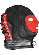 Rouge Mask With D Ring And Lock Strap Leather And Metal...