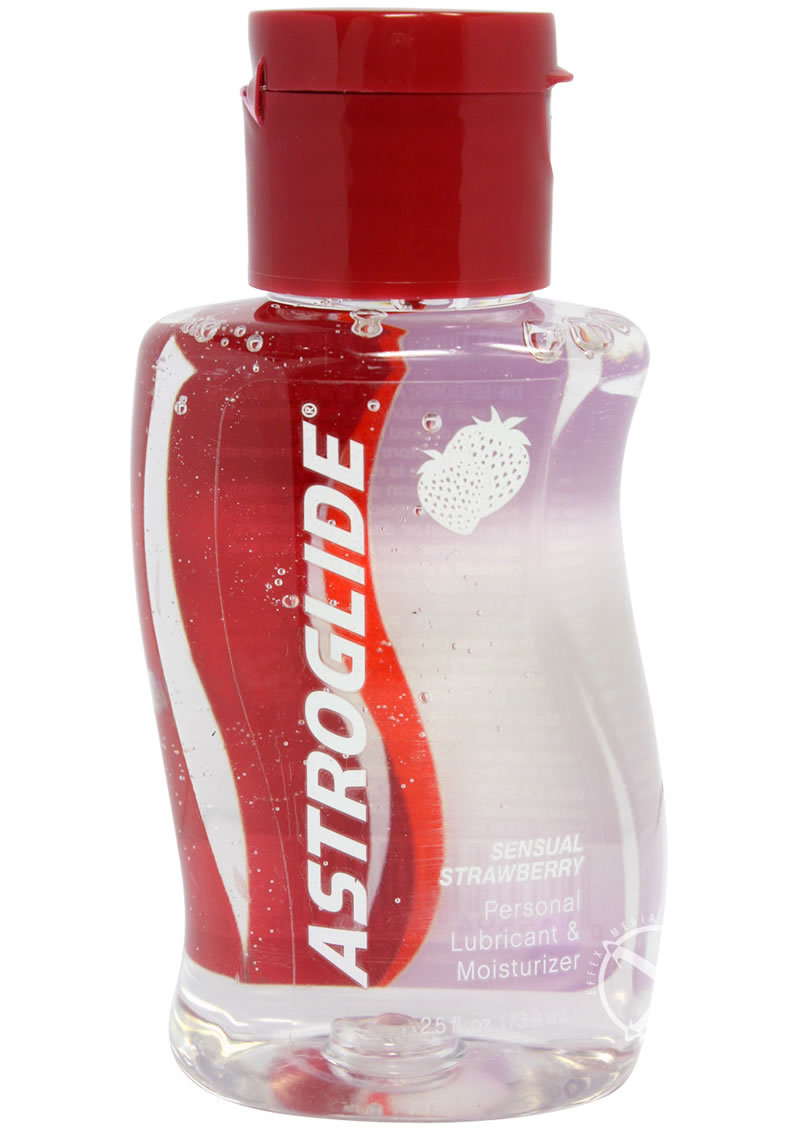 Astroglide Sensual Strawberry Flavored Water Based Lubricant 2.5 Ounce