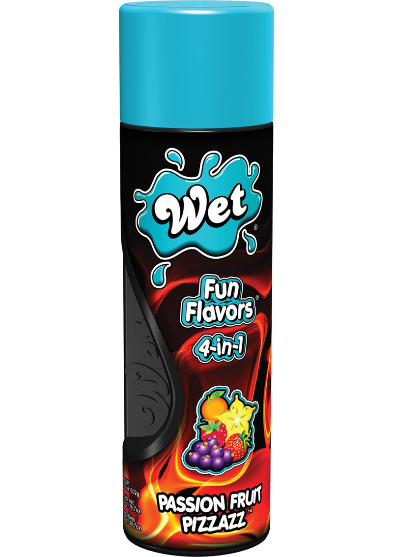 Wet Fun Flavors 4 In 1 Water Based Lubricant Passion Fruit Pizzazz 10.7 Ounce