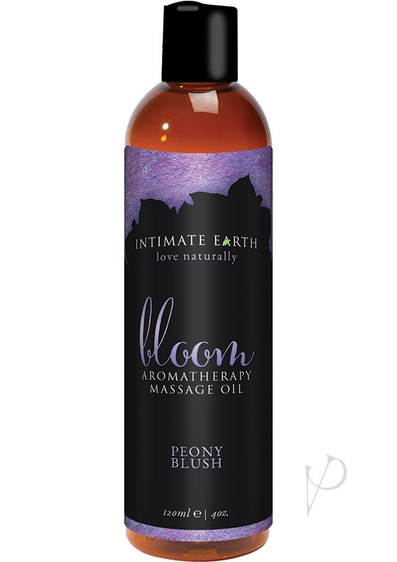 Intimate Earth Bloom Aromatherapy Massage Oil Peony Blush 4oz