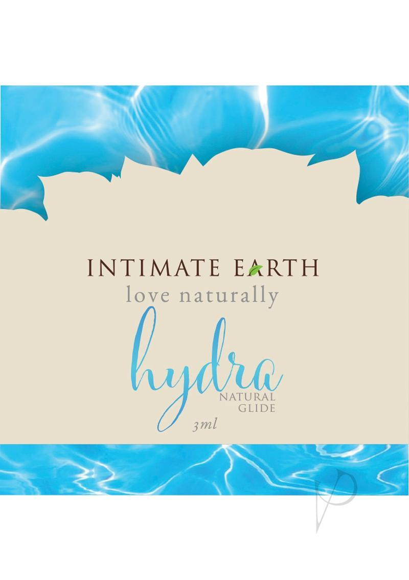 Intimate Earth Hydra Natural Glide Water Based Natural Plant Cellulose Lube 3 Milliliter Foil Pack