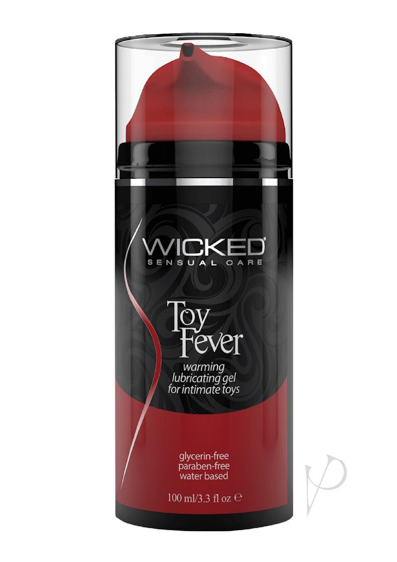 Wicked Toy Fever Warming Lubricating Gel  Water Based For Intimate Toys 3.3 Ounce