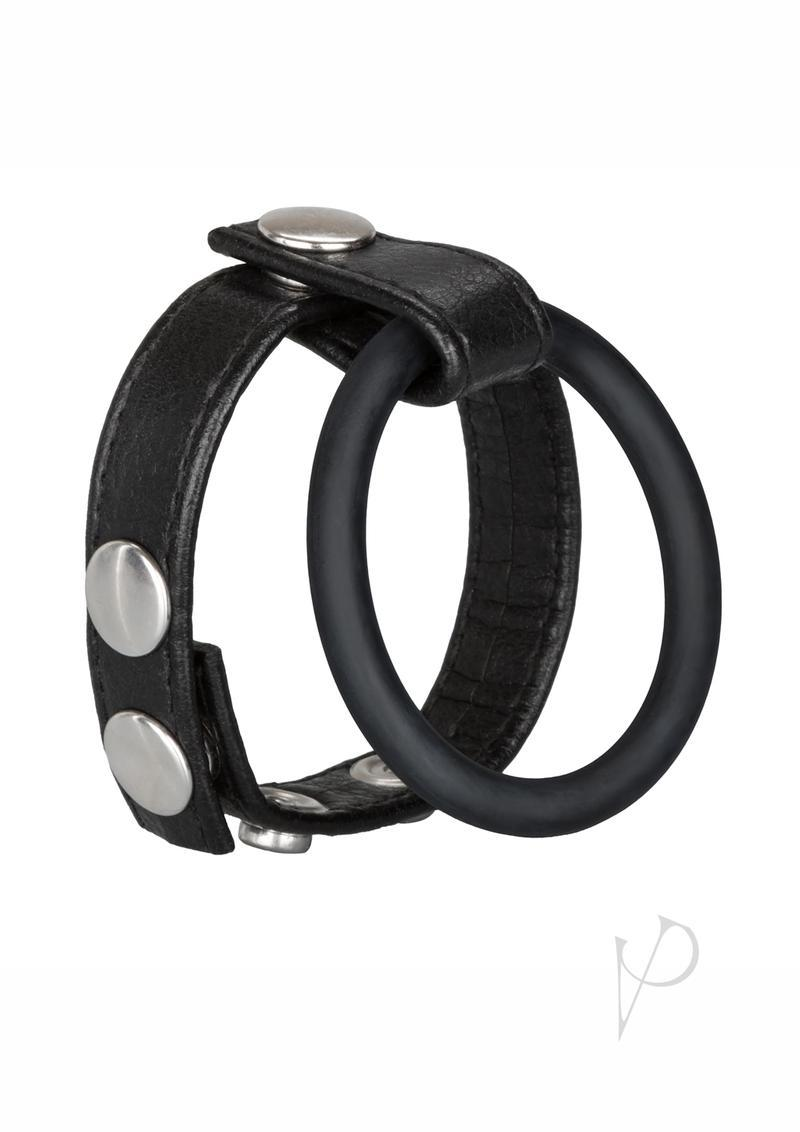 Ball Spreader Adjustable Leather Strap With Ring Large Black